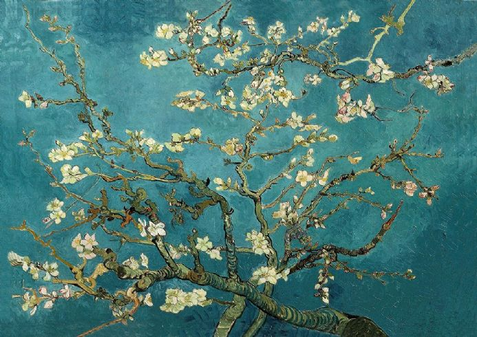 Van Gogh, Vincent: The Blossoming Almond Tree. Fine Art Print/Poster. Sizes: A4/A3/A2/A1 (001349)